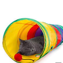 Load image into Gallery viewer, Pet Toy Tunnel - Rainbow Cabin