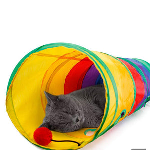 Pet Toy Tunnel - Rainbow Cabin