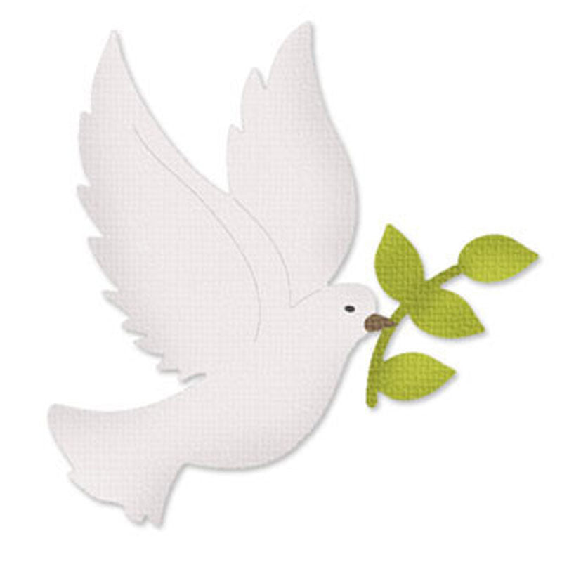 Metal Die Cut Stencil - Peace Dove - Rainbow Cabin