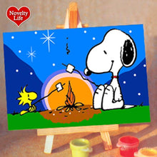 Load image into Gallery viewer, *FREE* Kids' Painting By Numbers Art Kit - Rainbow Cabin