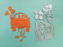 Load image into Gallery viewer, Metal Die Cut Stencil - I Love You Wedding Car - Rainbow Cabin