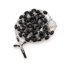 Load image into Gallery viewer, Black Wood Rosary Beads - Rainbow Cabin