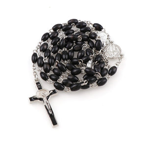 Black Wood Rosary Beads - Rainbow Cabin