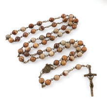 Load image into Gallery viewer, Bronze Jasper Gemstone Rosary Beads - Rainbow Cabin