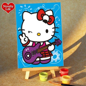 *FREE* Kids' Painting By Numbers Art Kit - Rainbow Cabin