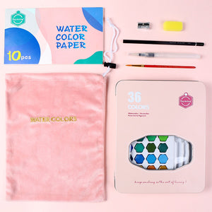 Watercolor Solid Paint Box Set - Rainbow Cabin