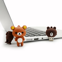 Load image into Gallery viewer, Rilakkuma Brown Bear USB Pen Drive - Rainbow Cabin