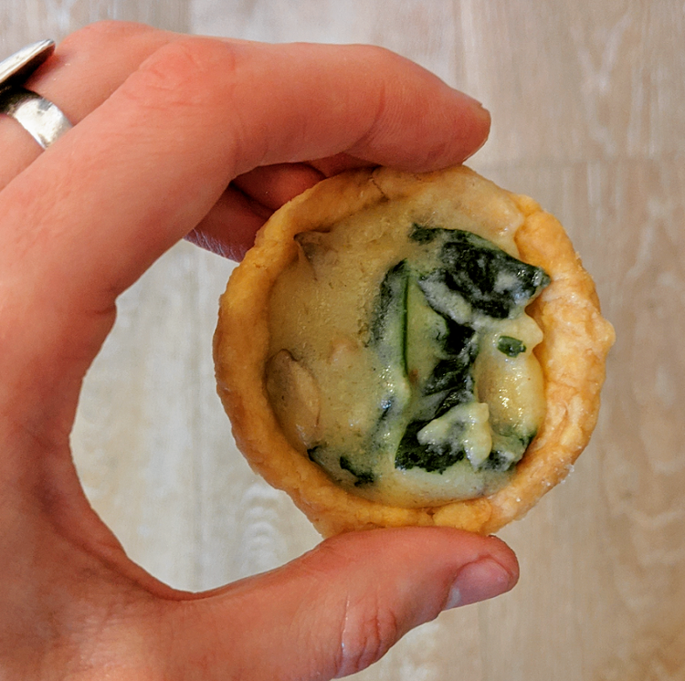 Cheese and Mushroom Tarts (vegan)