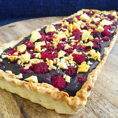 Rich Chocolate and Raspberry Tart