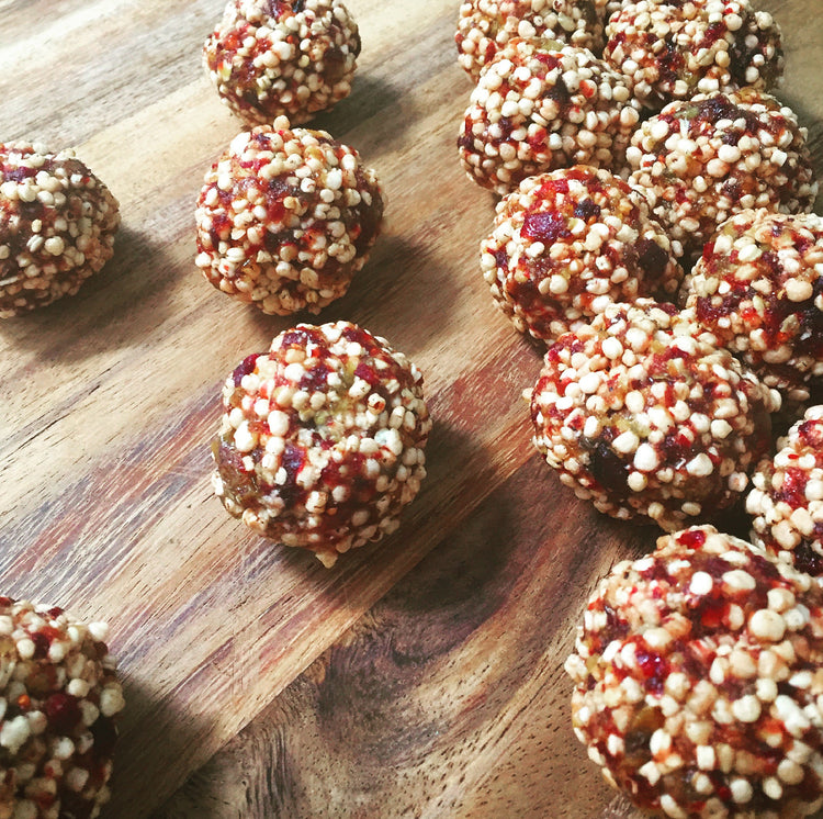Cranberry and Quinoa Energy Balls