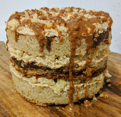 Lotus Biscoff Layer Cake (Veganised Momofuku Birthday Cake)
