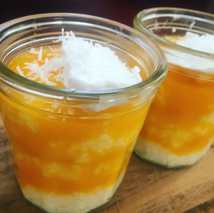 Peach and Tapioca Pudding