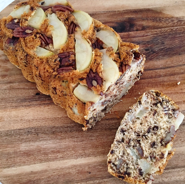 Healthy Pear, Pecan and Choc-chip Bread