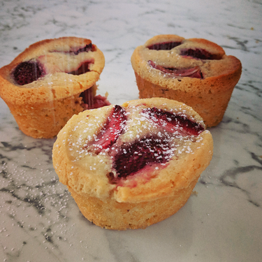 Strawberry and Coconut Friands