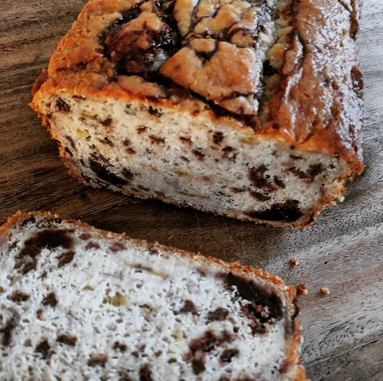 Vegan Choc-chip Banana Bread