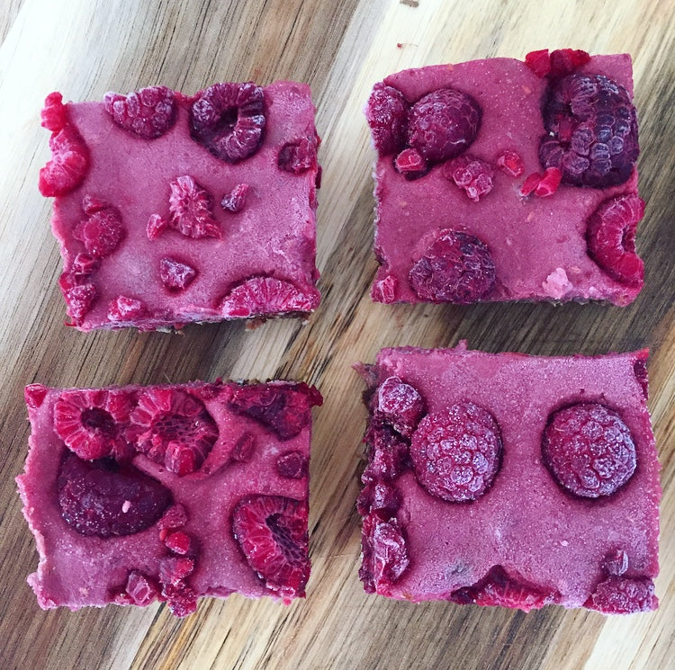 Acai, Raspberry and Chocolate Slices