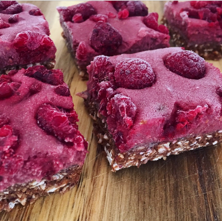Acai and Raspberry Slice