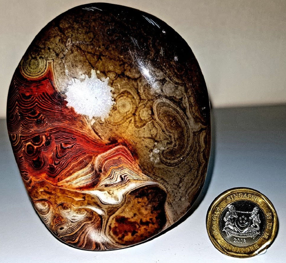 Divine Art - Sunrise at Mountain Range - Crazy Lace Agate (Happy Lace, Laughter Stone)