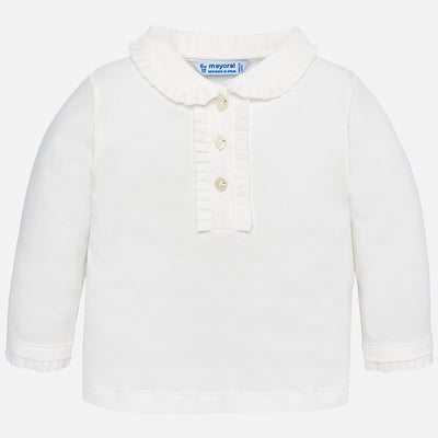 Mayoral, MAYORAL BABY GIRLS LONG SLEEVE POLO - James & Olive