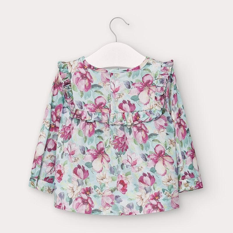 MAYORAL BABY GIRL FLORAL POPLIN SHIRT
