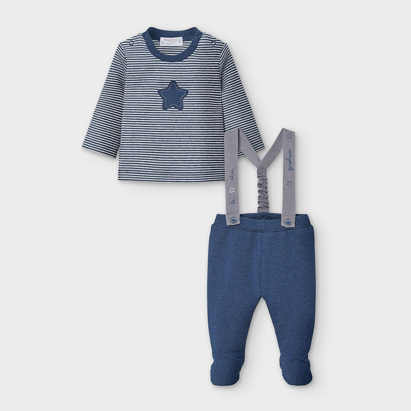 MAYORAL BABY BOY SUSPENDER PANT SET