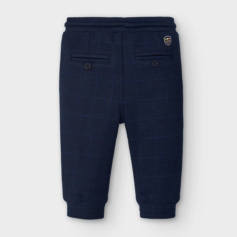 MAYORAL BABY BOY PLAID JOGGERS