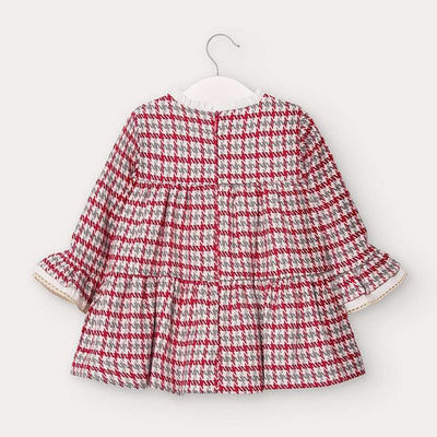 MAYORAL BABY GIRLS HOUNDSTOOTH DRESS