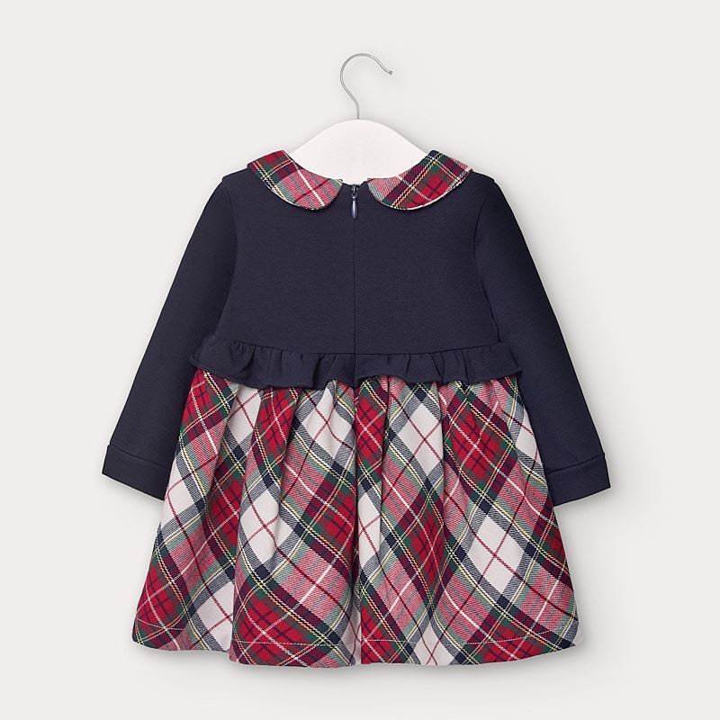 MAYORAL BABY GIRLS PLAID DRESS