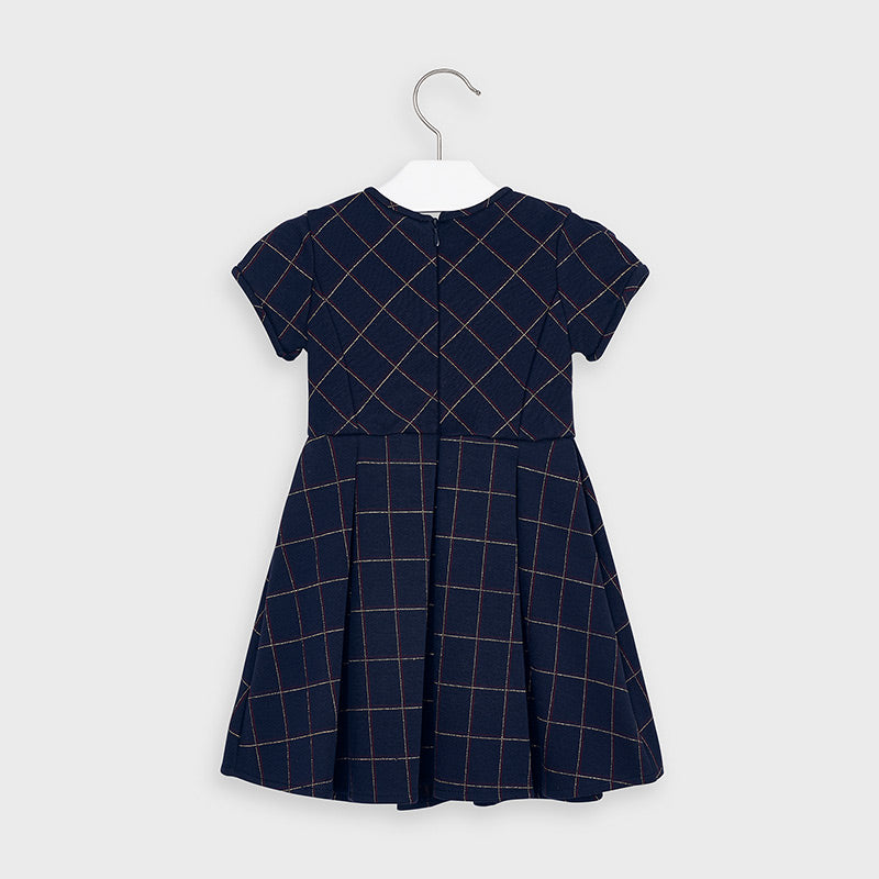 MAYORAL GIRLS NAVY PLAID DRESS