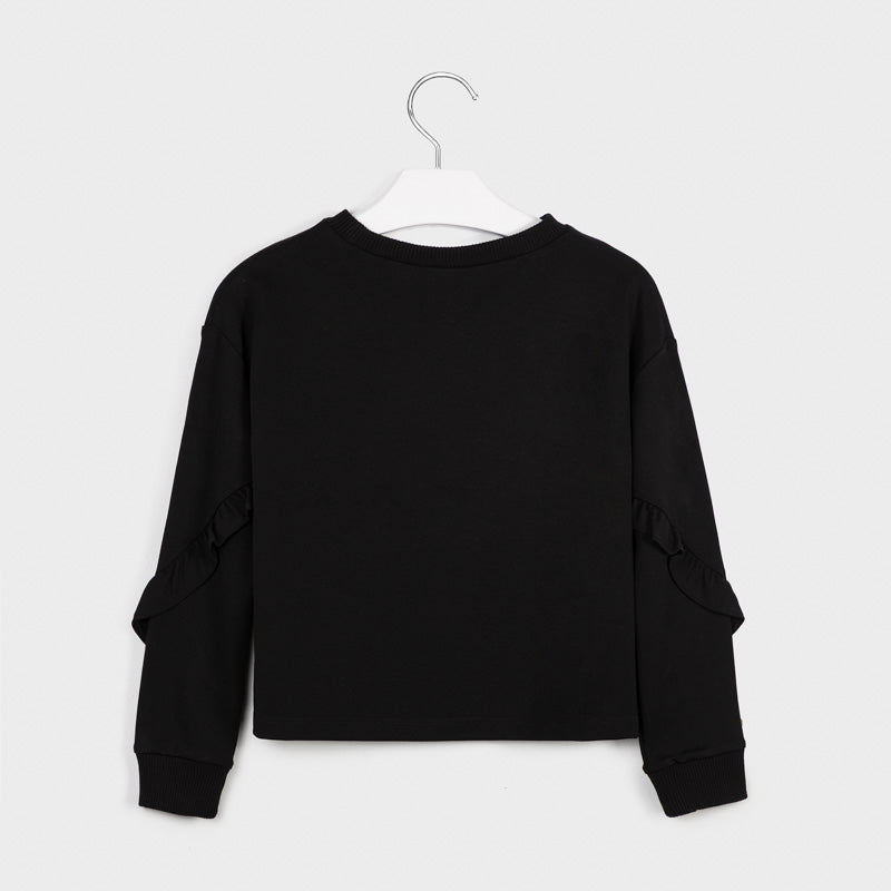 MAYORAL TWEEN RUFFLE SLEEVE SWEATSHIRT