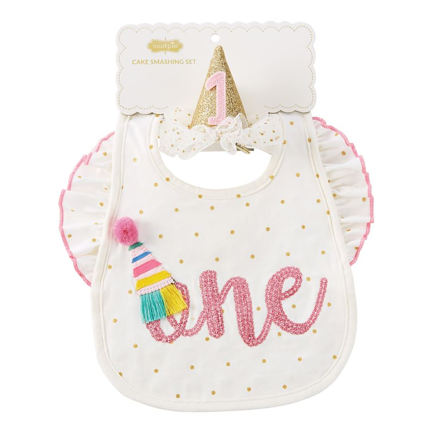 "MUD PIE BABY GIRL ""ONE"" CAKE SMASH SET"