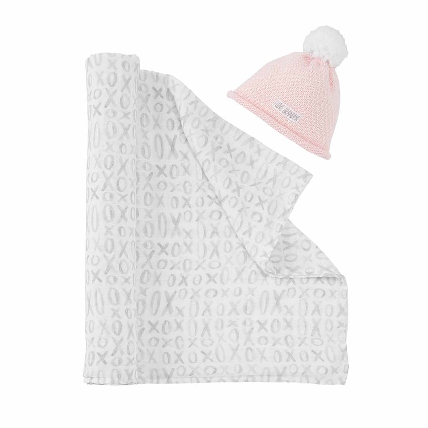 I LOVE GRANDMA SWADDLE AND HAT SET