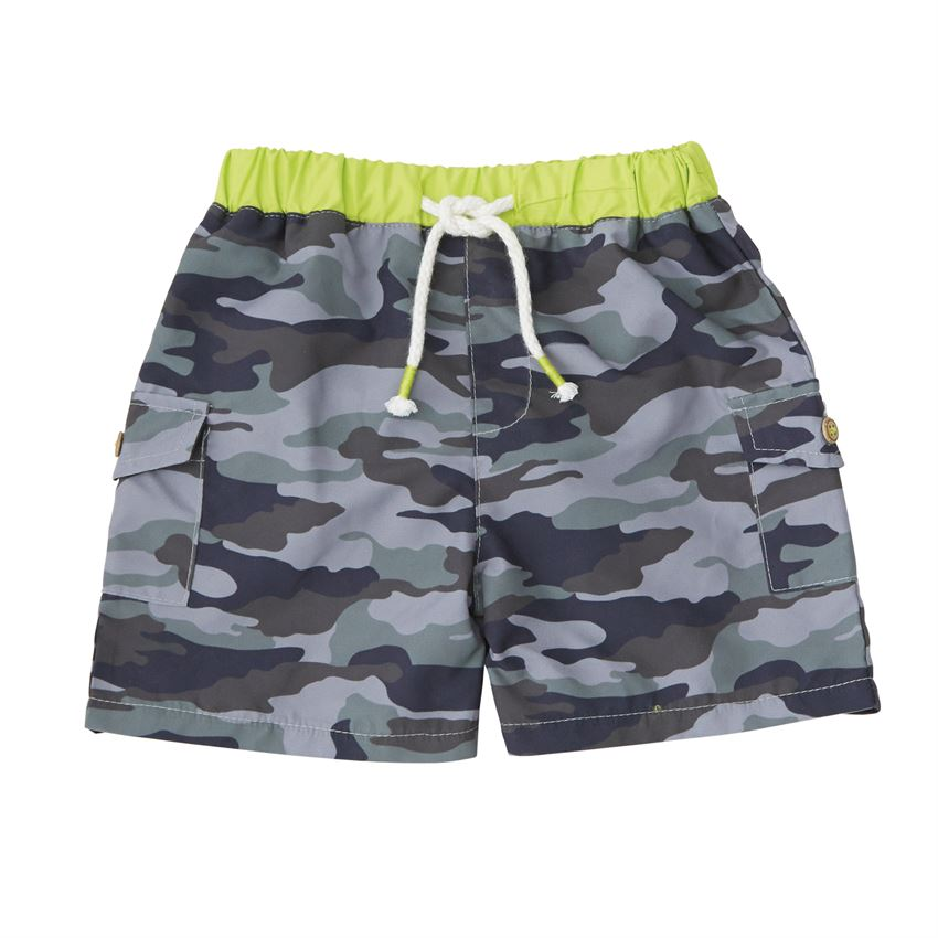 Mud Pie, MUD PIE BOYS CAMO SWIM TRUNKS - James & Olive