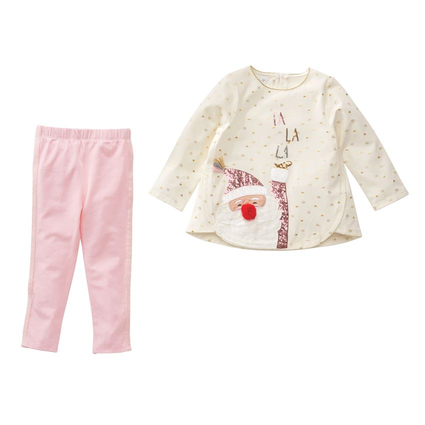Mud Pie, MUD PIE GIRLS SEQUIN SANTA SET - James & Olive