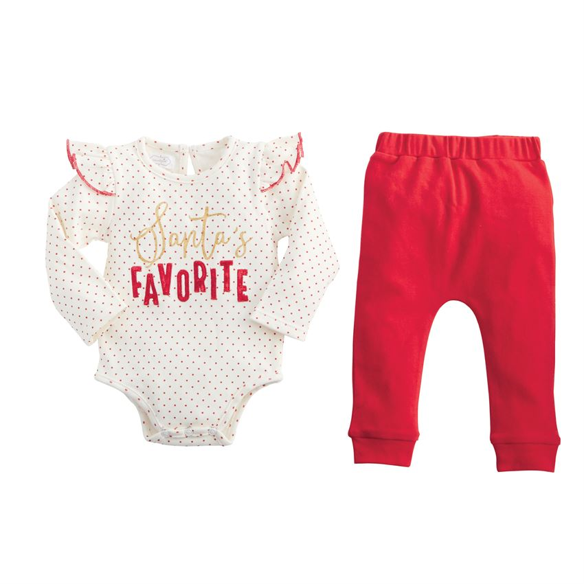 MUD PIE BABY GIRLS SANTA'S FAVORITE SET