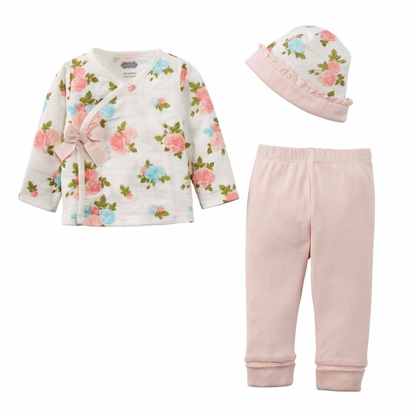 BABY GIRL FLORAL MUSLIN SET
