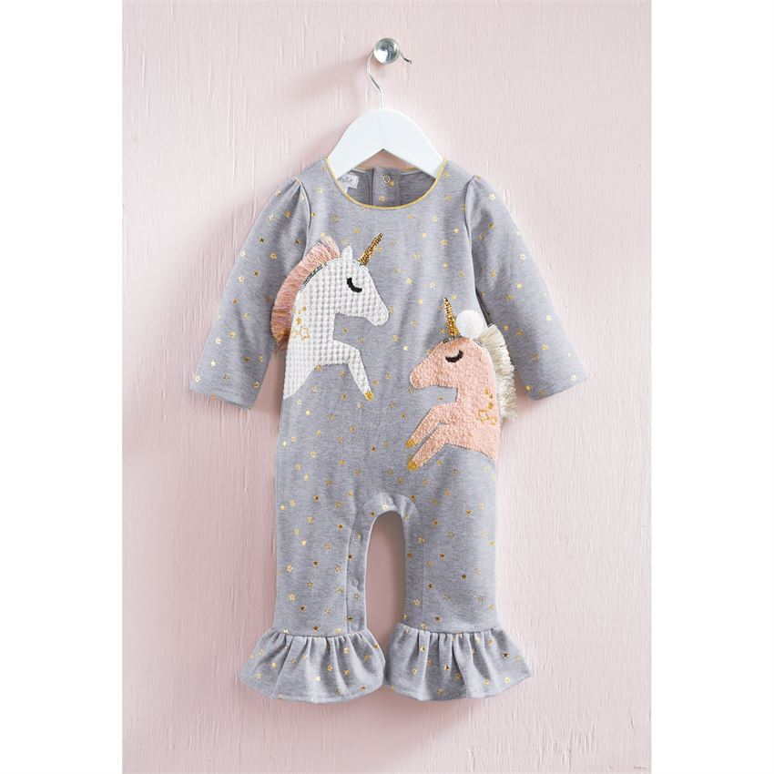 MUD PIE BABY GIRLS UNICORN ROMPER