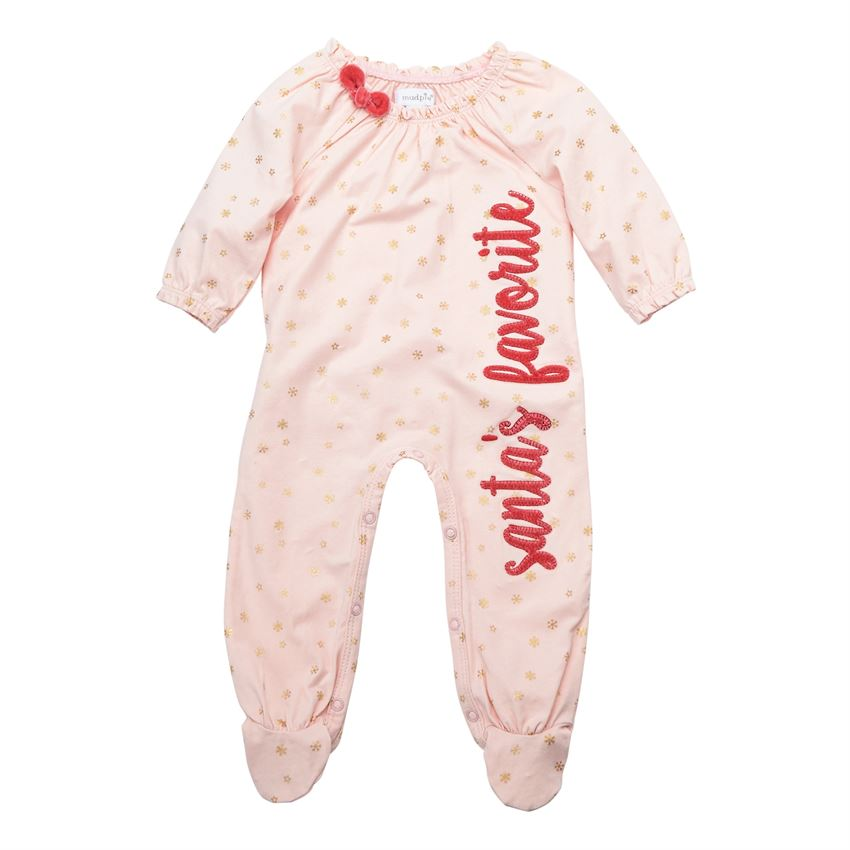 MUD PIE BABY GIRLS SANTA'S FAVORITE SLEEPER