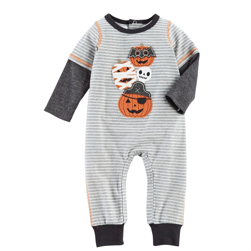 MUD PIE BABY BOY PUMPKIN COVERALL
