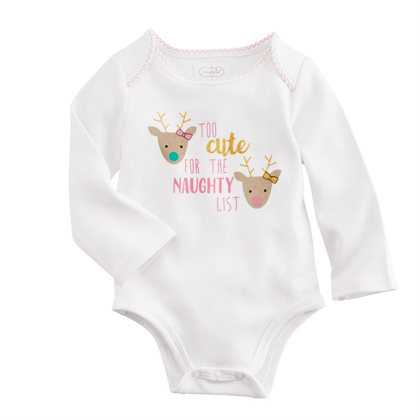 MUD PIE BABY GIRL HOLIDAY CRAWLERS