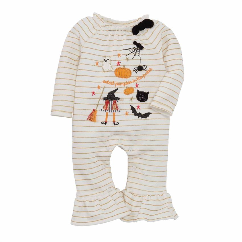 BABY GIRLS PUMPKIN ROMPER