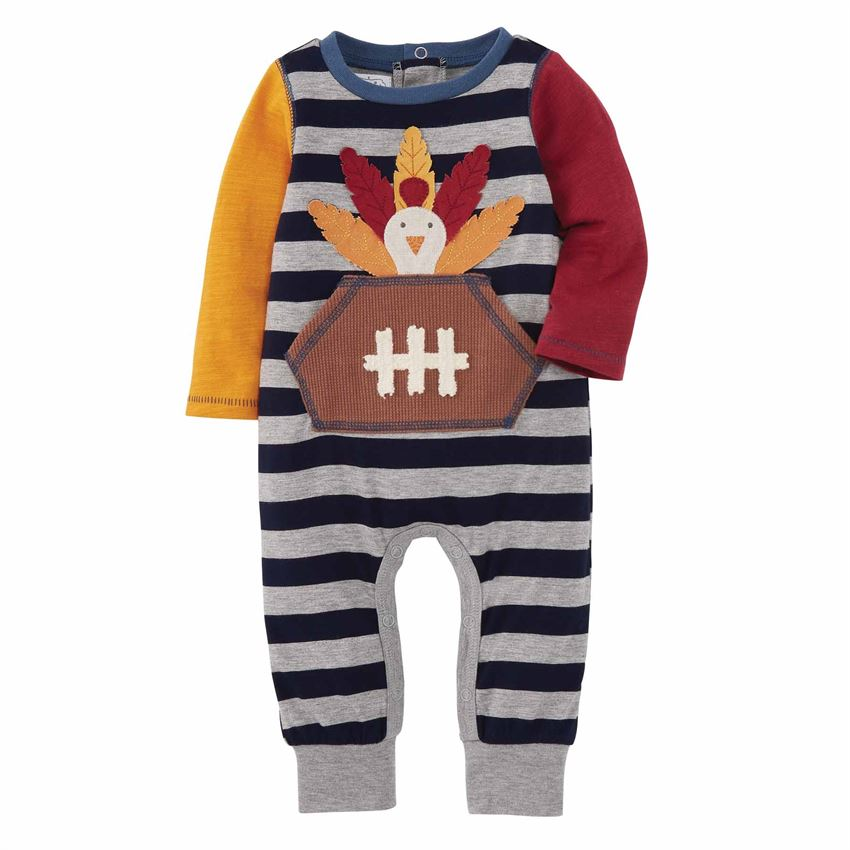 MUD PIE BABY BOYS TURKEY ONE PIECE