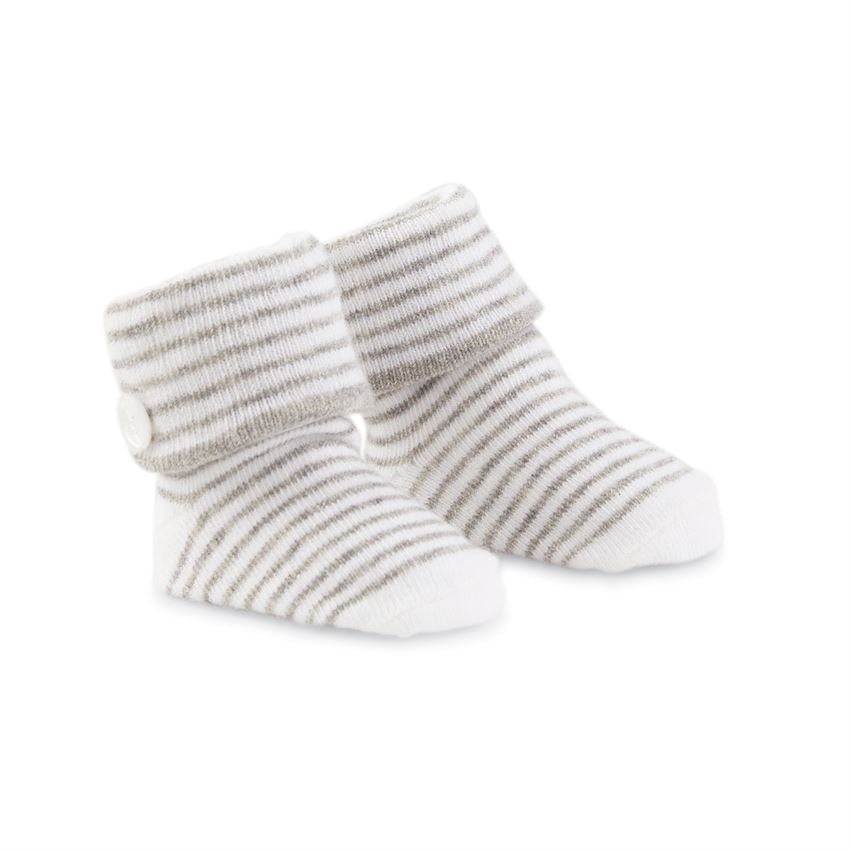 MUD PIE BABY BOY STRIPED BUTTON SOCKS