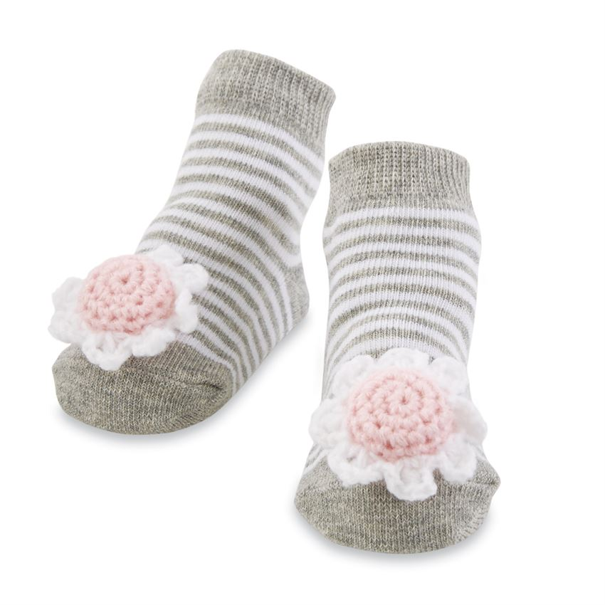 MUD PIE BABY GIRLS FLOWER RATTLE SOCKS