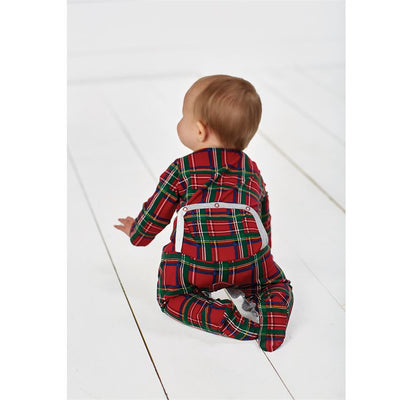 Mud Pie, MUD PIE BABY BOYS TARTAN PLAID SLEEPER - James & Olive