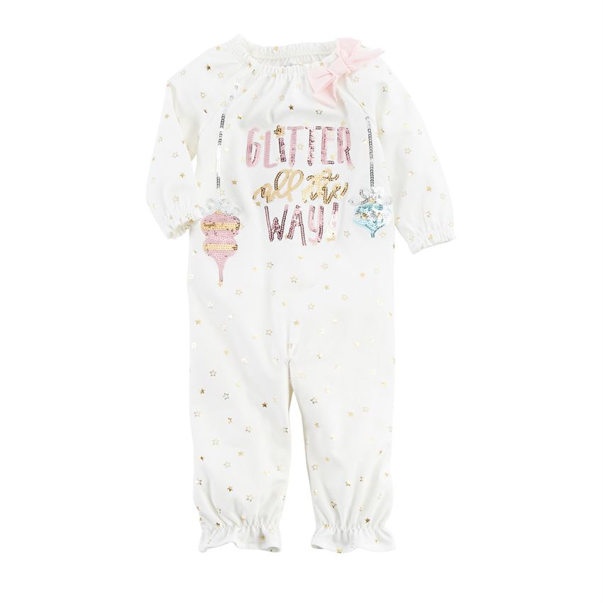 MUD PIE BABY GIRL GLITTER ALL THE WAY GOWN