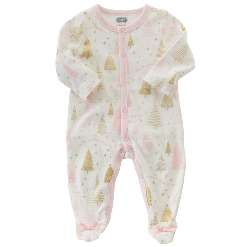 MUD PIE BABY GIRLS SEASON TO SPARKLE SLEEPER
