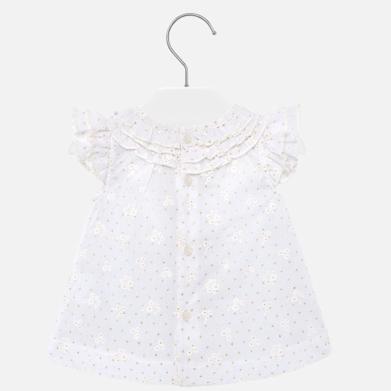 MAYORAL BABY GIRLS RUFFLED BLOUSE
