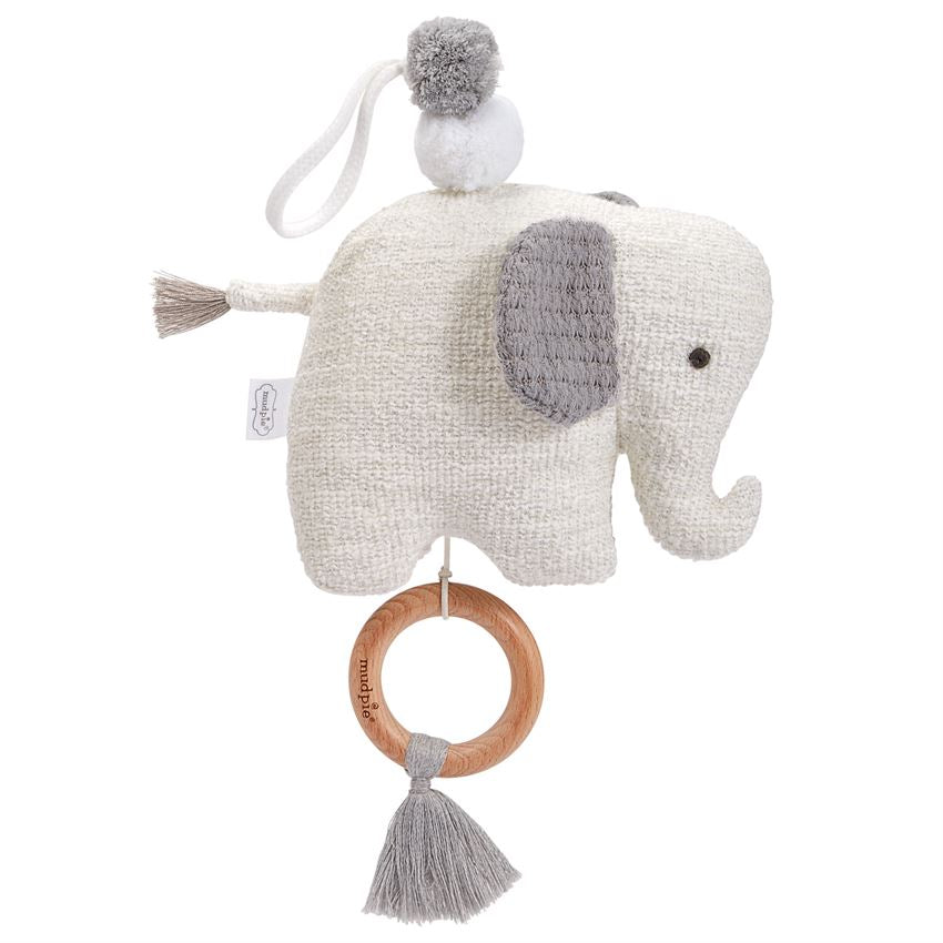 MUD PIE BABY ELEPHANT MUSICAL PULL