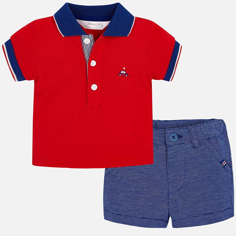 MAYORAL BABY BOY POLO AND SHORT SET-FINAL SALE